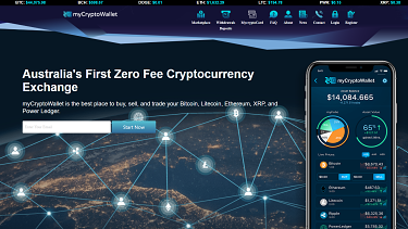 A screengrab of the MyCryptoWallet website as it appeared on April 1.