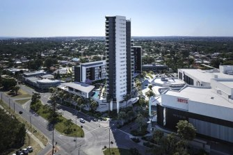 An artist's impression of the Karrinyup shopping centre redevelopment.