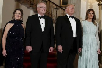 Scott and Jenny Morrison were treated to a state dinner in Washington.