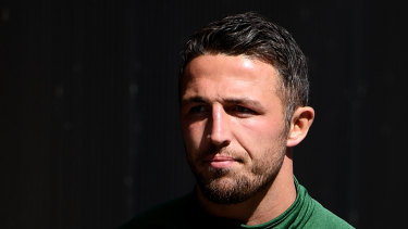 Sam Burgess has tweeted a denial that he has sexted anyone.