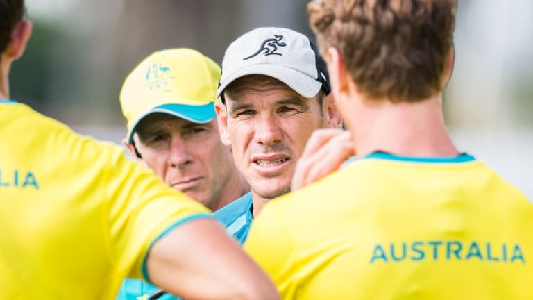 Mate against mate: Wallabies defence coach Nathan Grey.