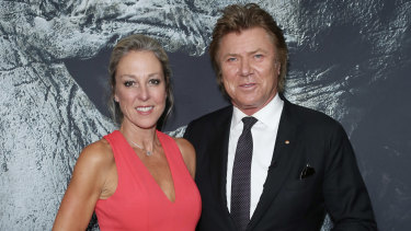 Richard Wilkins and partner Virginia Burmeister at the Halloween premiere.