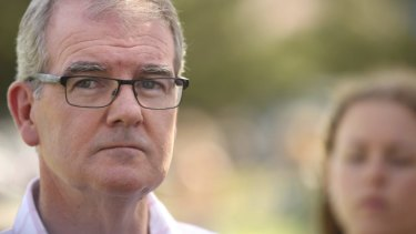 NSW Labor Opposition Leader Michael Daley addresses the media on Sunday.