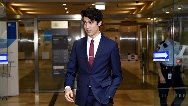 Bravery award: Jarrod Morton-Hoffman leaves the Sydney siege inquest.