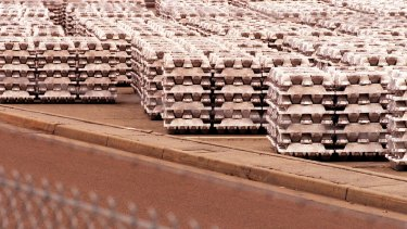Tomago Aluminium has told the government that the viability of its Newcastle plant is under threat.