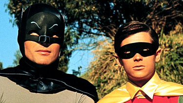 Adam West and Burt Reynolds in Batman: The Movie.