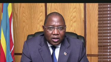 Ambrose Mandvulo Dlamini, Prime Minister of Eswatini, speaks in a pre-recorded message to the 75th session of the UN General Assembly in September.