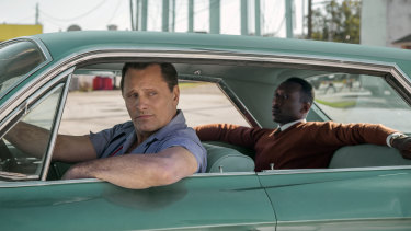 Viggo Mortensen (left) and Mahershala Ali in a scene from Green Book.