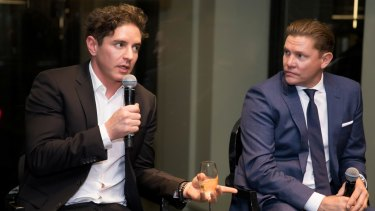 Vincent Fantauzzo and Damien Thomlinson at the Hugo Boss and Executive Style magazine's soiree on Thursday.