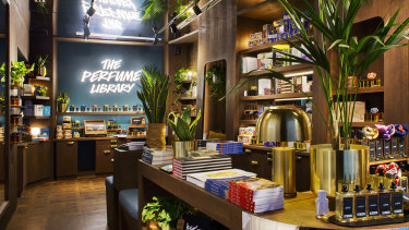 Lush's Perfume Library in Florence.