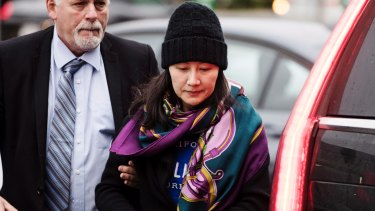 Out on bail: Huawei chief financial officer Meng Wanzhou.