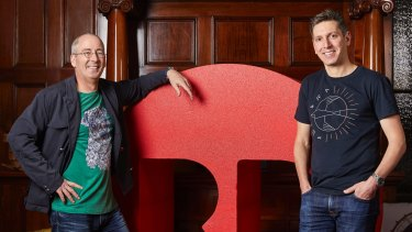 Redbubble founder Martin Hosking with  chief executive Barry Newstead.