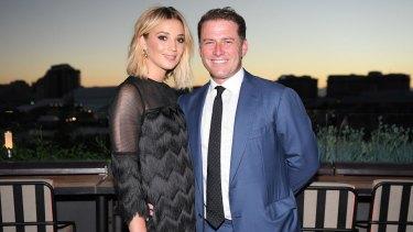 Karl Stefanovic with fiancee Jasmine Yarbrough.