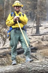Daniel Barwick on duty at the Washington fire.