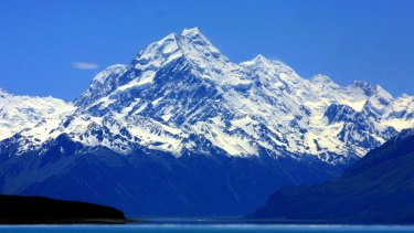 A view of Mount Cook.