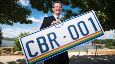 Gordon Ramsay announcing the new rainbow number plates.
