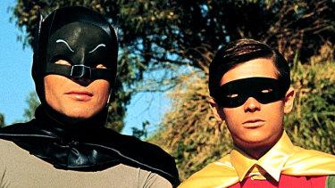 Adam West and Burt Reynolds in Batman: The Movie.