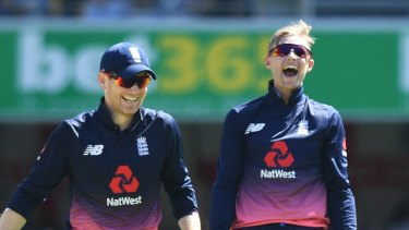 Expectations: England captain Eoin Morgan (left) and Joe Root, who will be key to the home team's hopes.