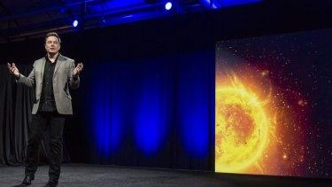 Elon Musk unveils Tesla's  Powerwall.