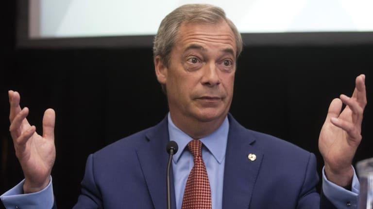 Nigel Farage, former leader of the UK Independence Party (UKIP).