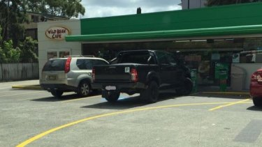 Report of parking in disabled space without a permit in Lane Cove.