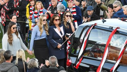Danny Frawley's send-off summed up the life and death of the man