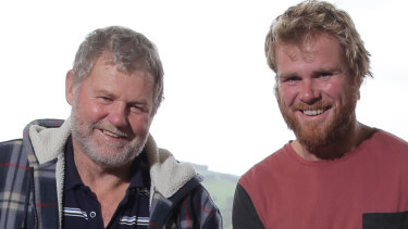 Farmer and surf lifesavers Ross and Andrew Powell who were killed on Sunday.