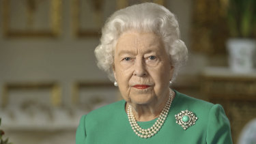 Queen Elizabeth II addresses the Commonwealth about the coronavirus pandemic.