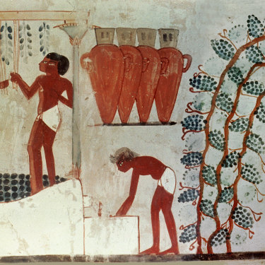 The ancient Egyptians enjoyed a tipple and recorded the fact in the tomb of the astronomer Nakht from about 1421BC.