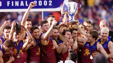 The victorious 2002 Brisbane Lions team.