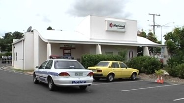 The scene of the crime at the NAB branch in Browns Plains in 1999.