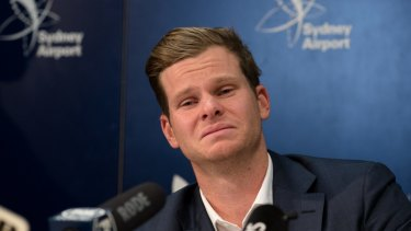 Steve Smith on his return to Sydney after the ball tampering scandal.