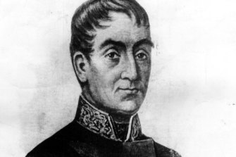 Governor Lachlan Macquarie.
