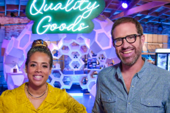 Singer-turned-chef Kelis and weed-enthusiast chef Leather Storrs in Cooked with Cannabis.