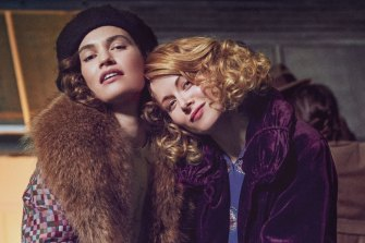 Lily James and Emily Beecham in the adaptation of Nancy Mitford's The Pursuit of Love.