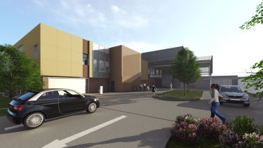 The $27 million replacement Barrett Adolescent Centre being built at the Prince Charles Hospital from next month.