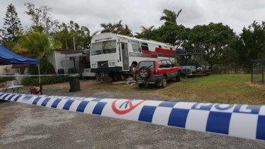 Detectives have established several crime scenes at the caravan park.