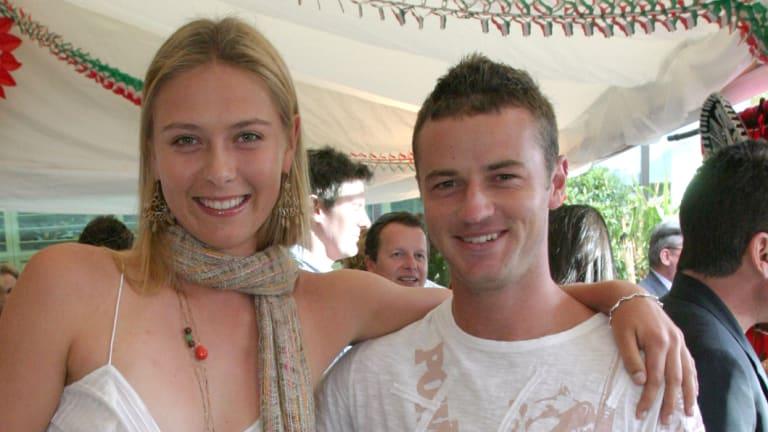 Maria Sharapova and Todd Reid, pictured in 2005.