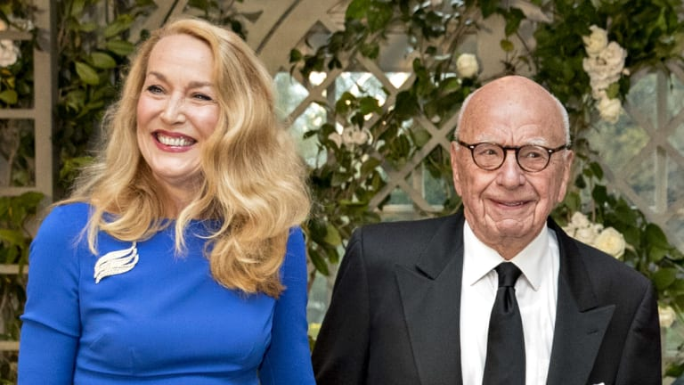 Rupert Murdoch and Jerry Hall in April.