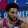 Sixers star Simmons sidelined with knee injury