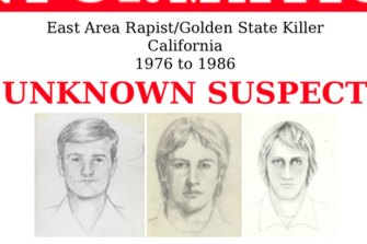 """In this undated photo released by the FBI shows artist renderings of a serial killer and rapist, also known as the """"East Area Rapist"""" and """"Golden State Killer"""" from 1976 to 1986."""