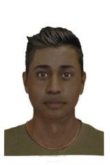 A computer-generated image of the alleged attacker.