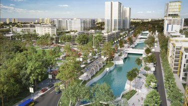 An artist's impression of the Sunshine Coast's new CBD (indicative only).