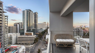 More investors are looking to the Perth market.  This two-bedroom, two-bathroom Adelaide Terrace apartment was listed for about $549,000 and could expect rental returns of about $600 per week.