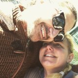 Lizzie Buttrose, niece of Ita, with her former fiance Zoran Stopar.