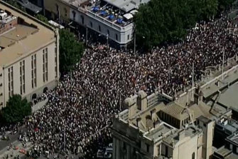 Last year's 'Invasion Day' rally drew tens of thousands of protesters.