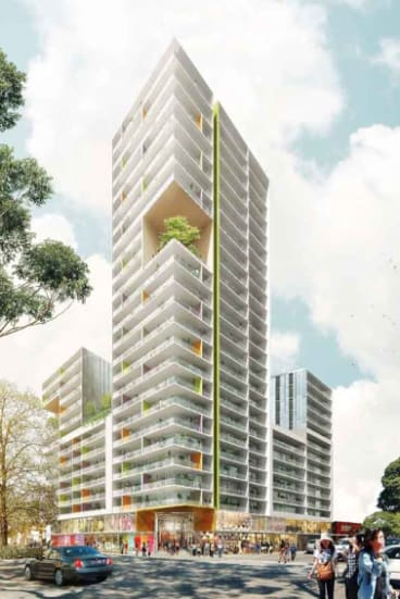 The 25-storey tower in Campsie which Daryl Maguire lobbied in favour of.