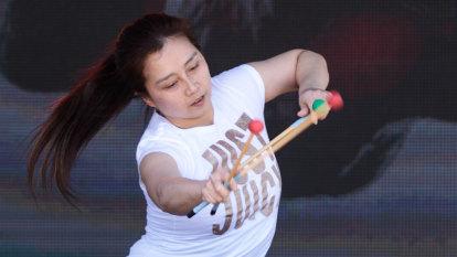 Kuniko Kato dances to the beat of her own drum