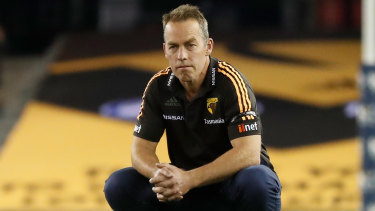Lift your game: Hawthorn coach Alastair Clarkson has urged the AFL to act on adjudicating free kicks to help reduce congestion around the ball.