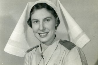 Alison Todd as a newly qualified nurse.